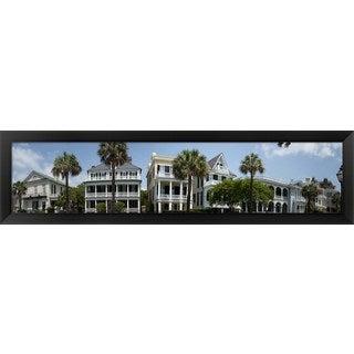 'Battery Street, Charleston, South Carolina' Framed Panoramic Photo