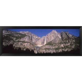 'Upper and Lower Yosemite Falls, Yosemite National Park, California' Framed Panoramic Photo
