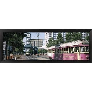 'Main Street Trolley Memphis TN' Framed Panoramic Photo