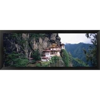 'Taktshang Monastery, Paro, Bhutan' Framed Panoramic Photo