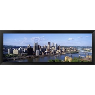 'Monongahela River, Pittsburgh, Pennsylvania' Framed Panoramic Photo