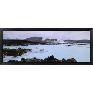 'Blue Lagoon, Reykjavik, Iceland' Framed Panoramic Photo