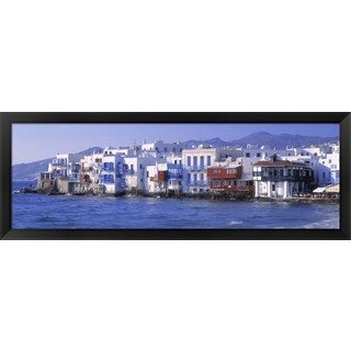 Mykonos, Greece' Framed Panoramic Photo