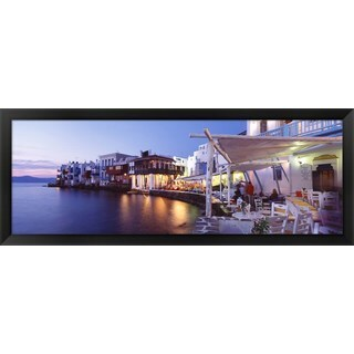 'Mykonos, Greece' Framed Panoramic Photo