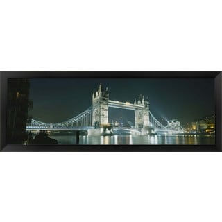 'Tower Bridge, London, England' Framed Panoramic Photo