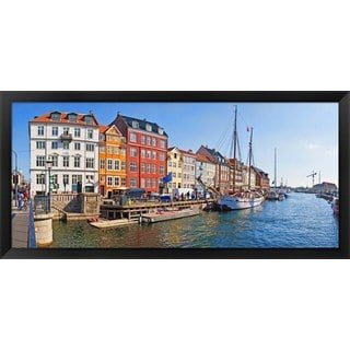 'Copenhagen, Denmark' Framed Panoramic Photo