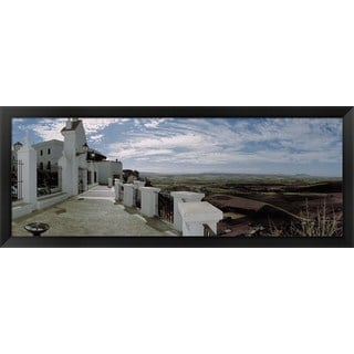 'Balcony in Andalusia, Spain' Framed Panoramic Photo