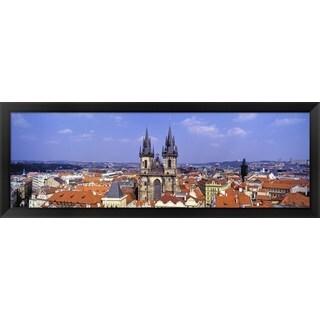 'Tyn Church, Prague, Czech Republic' Framed Panoramic Photo