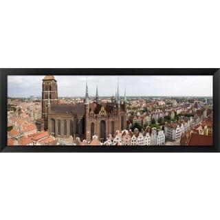 'St. Mary's Church, Gdansk, Poland' Framed Panoramic Photo