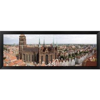 'St. Mary's Church, Gdansk, Poland' Framed Panoramic Photo