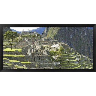 'Andes Mountains,Machu Pichu, Peru' Framed Panoramic Photo