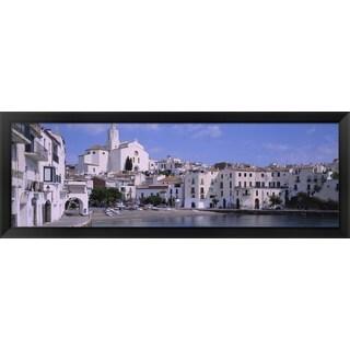 'Cadaques, Costa Brava, Spain' Framed Panoramic Photo