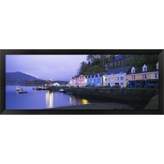 'Portree, Isle Of Skye, Scotland' Framed Panoramic Photo