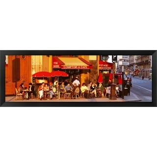 'Cafe, Paris, France' Framed Panoramic Photo