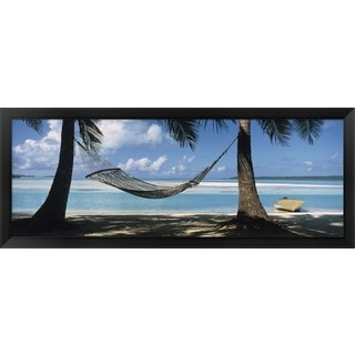 'Cook Islands South Pacific' Framed Panoramic Photo