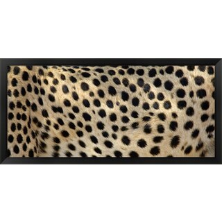 'Close-up of the spots on a cheetah' Framed Panoramic Photo