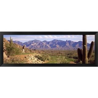 'Golf Course Tucson AZ' Framed Panoramic Photo
