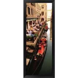 'Gondolas, Venice, Italy' Framed Panoramic Photo