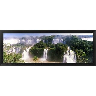'Floodwaters at Iguacu Falls, Brazil' Framed Panoramic Photo