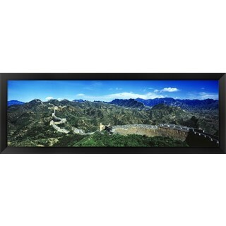 'Great Wall Of China, Beijing, China' Framed Panoramic Photo