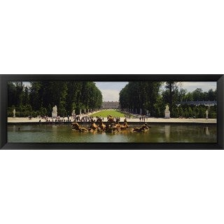 'Fountain in a garden, Versailles, France' Framed Panoramic Photo