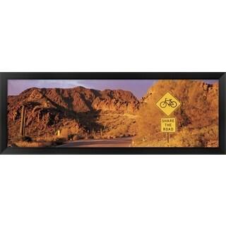 'Gates Pass Road Tucson Mountain Park Arizona ' Framed Panoramic Photo