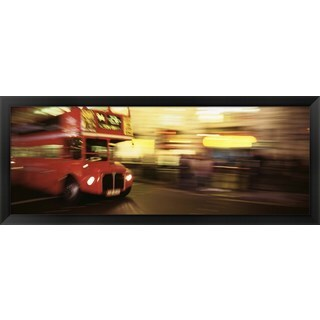 'Bus on the street, London, England' Framed Panoramic Photo