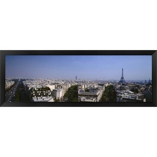 'Paris, France' Framed Panoramic Photo