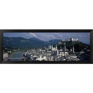 'Hohensalzburg Fortress, Salzburg, Austria' Framed Panoramic Photo