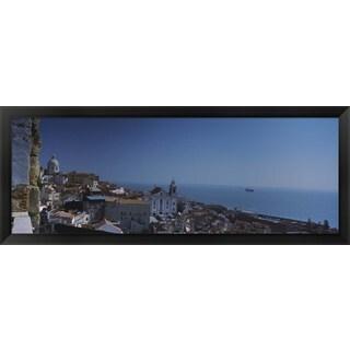 'Alfama, Lisbon, Portugal' Framed Panoramic Photo