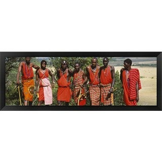 'Maasai Mara National Reserve, Kenya' Framed Panoramic Photo