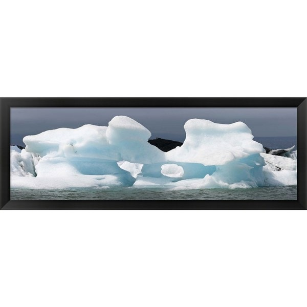 'Jokulsarlon Lagoon, Iceland' Framed Panoramic Photo