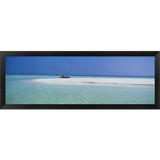 'Indian Ocean Maldives' Framed Panoramic Photo