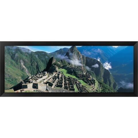 'Inca Ruins, Machu Picchu, Peru' Framed Panoramic Photo