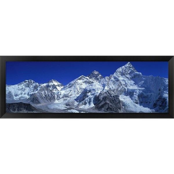 Himalaya Mountains, Nepal\' Framed Panoramic Photo - Free Shipping ...