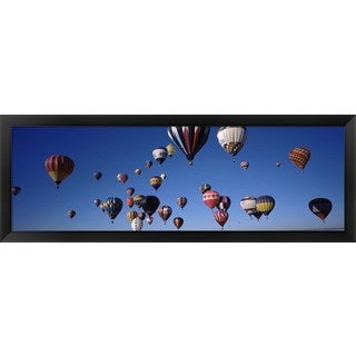 'Albuquerque International Balloon Fiesta, Albuquerque, NM' Framed Panoramic Photo
