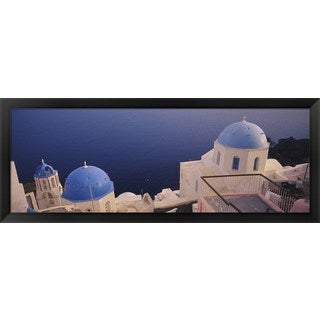 'Oia, Santorini, Greece' Framed Panoramic Photo