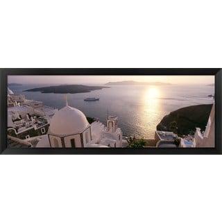 'Santorini, Greece' Framed Panoramic Photo