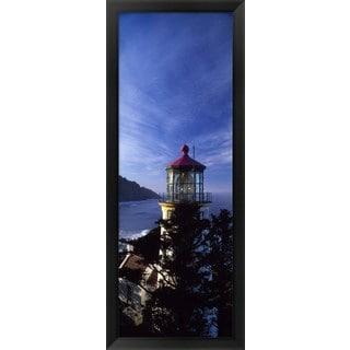 'Heceta Head Lighthouse, Heceta Head, Oregon' Framed Panoramic Photo