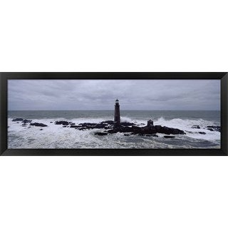 'Graves Light, Boston Harbor, Massachusetts' Framed Panoramic Photo