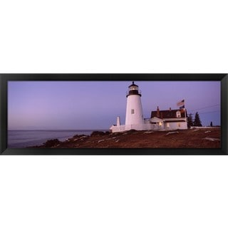 'Pemaquid Point Lighthouse, Bristol, Maine' Framed Panoramic Photo