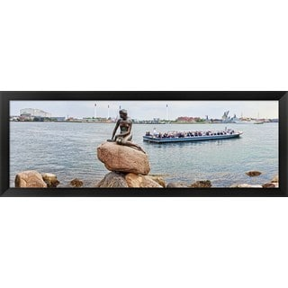 'Little Mermaid Statue, Copenhagen, Denmark' Framed Panoramic Photo
