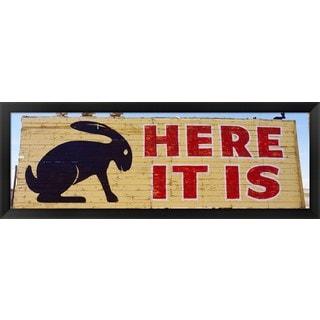 'Jack Rabbit Trading Post Sign Joseph City AZ' Framed Panoramic Photo