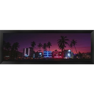 'South Beach Miami, Florida' Framed Panoramic Photo