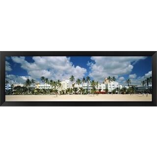 'Art Deco Hotels, Miami Beach, Florida' Framed Panoramic Photo