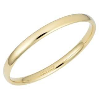 Oro Forte 14k Yellow Gold Filled Polished Slip-on Bangle
