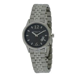 Raymond Weil Women's 'Freelancer' Grey Dial Stainless Steel Watch
