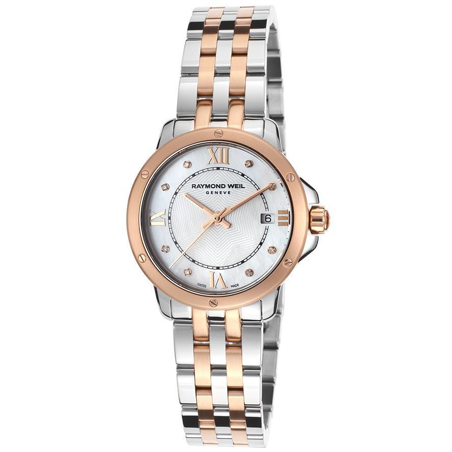Raymond Weil Women's 'Tango' Rosetone Two-tone Stainless Steel Watch (Raymond Weil Tango TwoTone Stainless Ladies Watch)