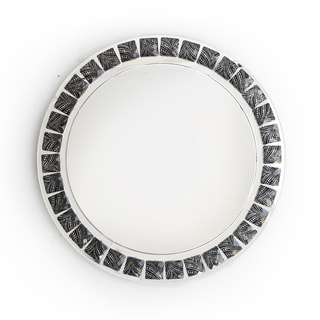 Beaded Metallic Black Charger Plate