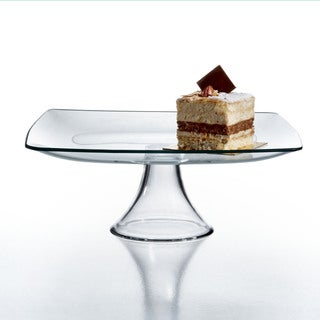 Soho Clear Glass Pedestal Plate